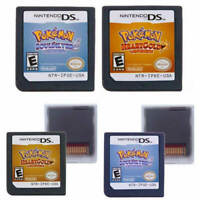 2pcs Pokemon Game Cards Heart Gold + Soul Silver Version For 3DS NDSI NDS NDSL