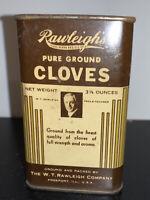 Vintage Spice Tin Rawleighs Pure Ground Cloves 3 1/4 Oz Ounces Advertising