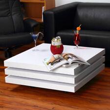 Couchtisch Beistelltisch Wohnzimmertisch Tisch Designertisch weiß Eckig