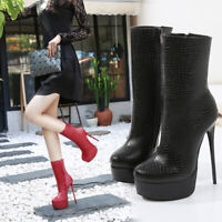 Crossdresser Booties Men's Ankle Boots High Heels Drag Queen Black Women Shoes