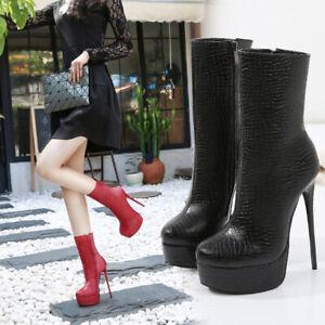 Crossdresser Booties Men's Ankle Boots High Heels Drag Queen Black Women Shoes