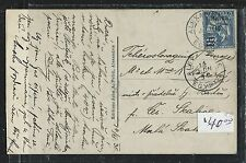 Alexandria French Offices In Egypt (Pp2709B) 1910 Ppc With Sower 10M To Czechos