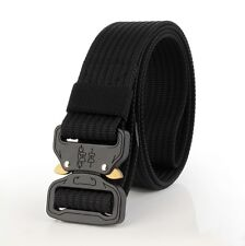 NEW Adjustable Men Military Belt Buckle Combat Waistband Tactical Rescue Rigger