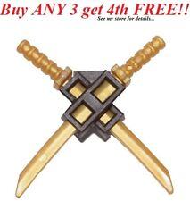 ☀️NEW Lego Weapon Katana Gold SWORDS w/ Scabbard Shamshir Ninjago Ninja Samurai