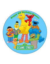 SESAME STREET  edible Cake Image Personalised Birthday Decoration Party Top