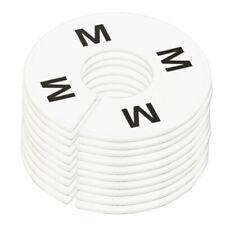 10pc Clothing Rack Size M Medium Marks Dividers Ring Hangers White Plastic Round