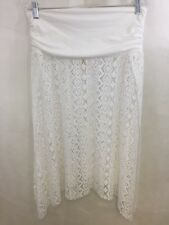 Stylus Women's 100% Polyester Swimwear White Cover-Up Skirt Size L / XL