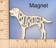 Border Terrier Dog laser cut and engraved wood Magnet Great Gift Idea
