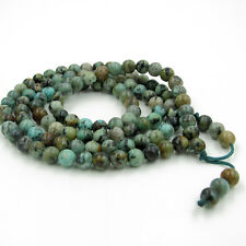 108 Green Gemstone Tibet Buddhist Prayer Beads Mala Necklace