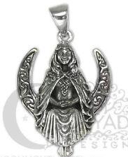 Dryad Designs Silver Seated Moon Goddess Pendant t by Paul Borda