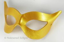 1950s Catwoman Gold Leather Mask Superhero Gotham Batman Halloween Mardi Gras