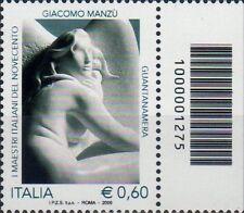 2009 francobollo Giacomo Manzù CON CODICE A BARRE 1275
