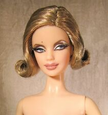 Nude model muse Pussy Galore 007 barbie Dark blonde bob mackie sculpt