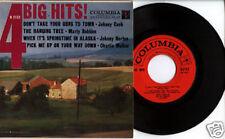 Columbia 4 Big Hits Country 45 Ep & Ps Johnny Cash Horton Marty Robbins Walker