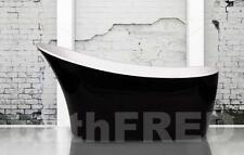 NEW ROYCE MORGAN SUNSTONE BLACK DESIGNER FREESTANDING BATH TUB WHITE RRP £1,600