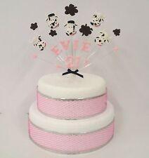 Farm animal, yard, cow (pig,sheep ) birthday cake topper, personalised name, age