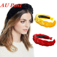 2PCS Ladies Velvet Braided Hairband Headband Braid Hair Loop Bands Accessories