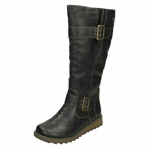 Remonte Ladies Knee High Warm Lined Boots With Remonte Tex - D8886
