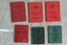USSR Soviet Army document Military ID Ticket Book. Original  6 ps.