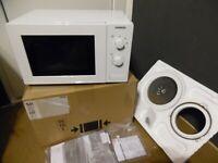 Siemens HF12M240 iQ100 Mikrowelle, 17L, 800 W einbaufähig Microwave weiß