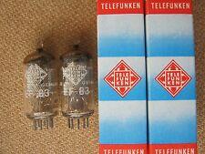 2x  EF83 / 6BK8  TELEFUNKEN   tubes   -  NOS  - ( EF86 / 6267 )  -  EF 83