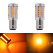 2pcs 1157 BAY15D Brake Lights DRL Auto Led Car Light 5630 Chip SMD P21/5W Amber