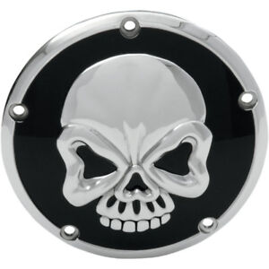 Drag Specialties Skull Derby Cover for 1999-2018 Harley Big Twins