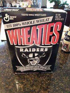 vintage 1995 Oakland Raiders Wheaties Cereal Box Unopened Las Vegas Los Angeles