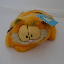 Vintage Garfield Plush Toy Dakin USA - Laying down with tags 1980s Collectable