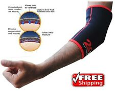 2fit Pair Elasticated Neoprene Elbow Support Brace Pad Pain Injury Relief S-xl Small / Medium