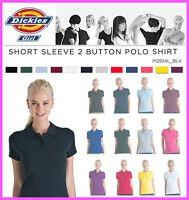 Dickies Junior Girls Plain Short Sleeve Polo Shirt, PQ924L Golf LPGA Top Uniform