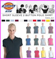 Dickies Junior Girls Plain Short Sleeve Polo Shirt, PQ924L Golf LPGA Top Uniform