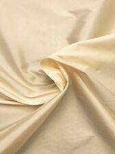 Valentine Dark Cream Taffeta Faux Silk Fabric BY THE YARD