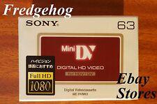 Hi-DEFINITION SONY DVM-63 PROFESSIONAL MINI DV DIGITAL CAMCORDER TAPE / CASSETTE