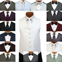 Legend Fullback Tuxedo Formal Suit Vest & Tie Set Waistcoat Prom Wedding Gala