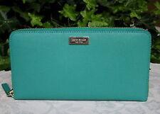 Kate Spade Wallet WLRU1498 Neda Newbury Lane Saffiano Leather Dusty Emerald