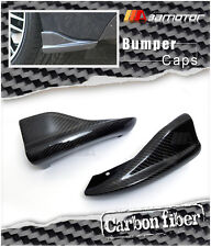 CARBON FIBER REAR BUMPER CAPS for 08-11 SUBARU IMPREZA WRX STI GRB WAGON 5-DOOR