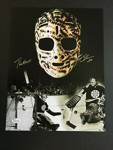"""GERRY CHEEVERS AUTOGRAPHED 11X17 """"THE MASK"""" PHOTO  J.S.A. AUTHENTICATED"""
