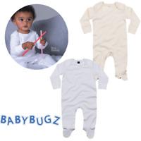 BABY SLEEPSUIT SCRATCH MITTS SOFT ORGANIC COTTON ENVELOPE NECK BODYSUIT NEWBORN