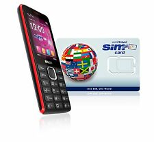 Global TANK Cell Phone - UK and US number. $10.00 airtime credit