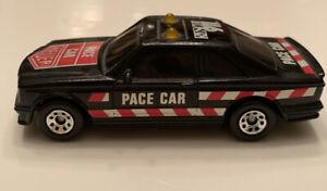 Vintage MATCHBOX 1984 MERCEDES 500 SEC PACE CAR BLACK HEUER Rare Original Old +