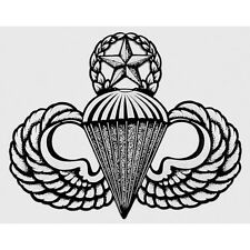 US ARMY AIRBORNE MASTER PARACHUTE WINGS/JUMP MASTER STICKER!!