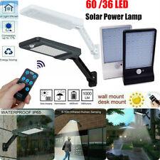 60W /36W LED Solar Street Wall Light PIR Motion Sensor Outdoor Lamp + Remote US