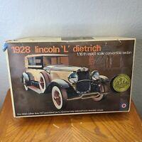 Entex 1/16 scale kit 2205-800 1928 Lincoln L Dietrich convertible sedan