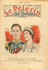 Portrait King George VI & Queen Elizabeth United Kingdom UK 1937 ILLUSTRATION