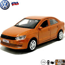 Diecast Car Scale 1:36 Volkswagen Polo Russian Model Cars