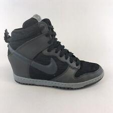 Nike Dunk Sky Hi Black Grey Hidden Wedge Trainers Ankle Sneakers Shoes EU40 UK6