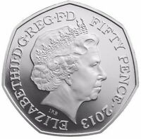 2013 50P COIN RARE SHIELD FIFTY PENCE IN ALMOST UNCIRCULATED CONDITION c