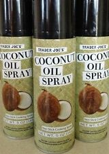 3 Cans of TRADER JOES Coconut Oil Non Stick Cooking Spray 5 Oz.