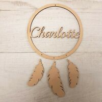 Wooden MDF Child's Dreamcatcher Personalised Hanging Craft Shape